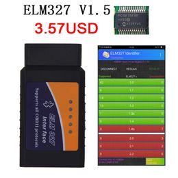 2019 elm327 obd2 auto ELM327 V1.5 PIC18F25K80 Bluetooth-Autodiagnosewerkzeug ULM 327 V1.5 HW ELM327 V2.1 Scanner SW OBD2 für Android-Codeleser günstig elm327 obd2 auto