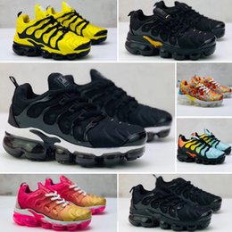 2019 Maxes Cheap TN Plus Women Running Shoes Sports Air Tennis Grape In Metallic White orange Black womens runer kids sneakers