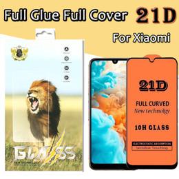 Proteggi schermo in vetro temperato trasparente a colla per vetro temperato 21D per Xiaomi 9 SE 8X 8 Pro Lite YOUCH Redmi 6A Note 7S 6 Pro K20 con scatola da