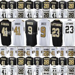 New Orleans Mens Saints 9 Drew Brees 41 Alvin Kamara Jersey 23 Marshon  Lattimore 13 Michael Thomas 28 Adrian Peterson Jerseys bcaab1e19