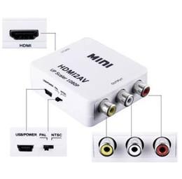 vga cavi di colore Sconti Adattatore da HDMI a RCA CVBS Adattatore video 1080P Adattatore per convertitore HDMI2AV Supporto NTSC PAL Uscita da HDMI ad AV