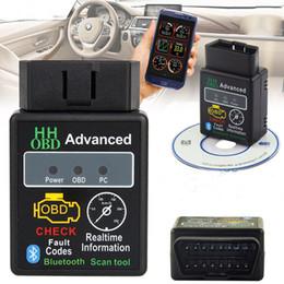 2019 obd2 adaptador usb Novo OBD2 II V2.1 ELM327 Bluetooth Car Scanner Android Torque Auto DTCs Ferramenta de Verificação