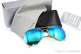 lentes de pelicula de color Rebajas Nuevo piloto Marca gafas de sol Color película Lente Diseñador para hombre Gafas de sol Espejo gafas de sol Marca gafas de mujer con cajas de cajas originales