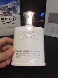 Famoso perfume incenso Colônia Creed sliver água da montanha para homens colônia 120 ml com longa duração tempo bom cheiro livre de compras de