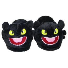 16e3b3dec1777 Chaud Dragon Sans Dentelle En Peluche Pantoufles Maison Adulte Hiver  Pantoufles Intérieur Doux Unisexe Maison de Bande Dessinée Bouche Ouverte  Chaussures ...