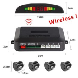 2019 kit di inversione Fonwoon Wireless Car Parktronic con 4 sensori Kit sensore di parcheggio posteriore Buzzer Radar Reversing Blind Spot Detection 12V 4 colori sconti kit di inversione