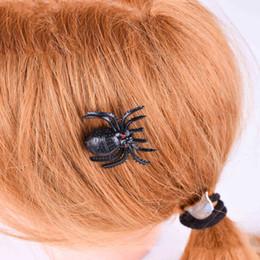 Donne di ragno cosplay online-New Vintage Women spider clip di capelli di Halloween moda insetto cosplay barrettes nero Hairclips accessori del partito all'ingrosso
