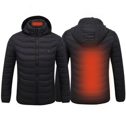 vest hunting Promo Codes - Outdoor Winter Smart USB Electric Heated Vest Thermal Thermostat Heating Jacket For Skiiing Hunting Warm Heating Clothes