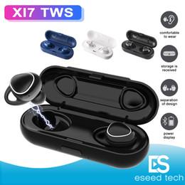 2019 téléphone portable moins cher Xi7 TWS Casque Bluetooth Sans Fil 5.0 Son 3D Écouteurs Stéréo Écouteurs Mini Casque Sport avec Boîte de Recharge pour Iphone X Samsung Xiaomi
