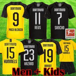 futebol de borussia Desconto 19 20 camisas de futebol Borussia Dortmund TURNIERTRIKOT BVB REUS SANCHO camisa de futebol PERIGO Witsel Götze BRANDT CAMISETA 2019 2020 SCHULZ kits maillot cobre