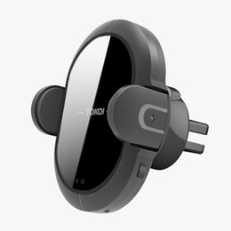 Стенд навигатора онлайн-X2 10W 7.5W Quick Charge Navigator Holder Bracket Vehicle Stand Smart Induction Auto Infrared Wireless Car Charger Multifunction