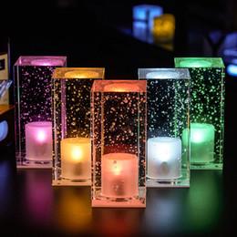 Tienda de luz nocturna online-Creative Bar Crystal Atmosphere Night Light con logotipo personalizado Recharging Coffee Shop Restaurant LED Lámpara de mesa