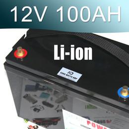 Caixa 12v on-line-Bateria impermeável do Li-íon da caixa 100AH do IP67 da bateria do íon do lítio 12V