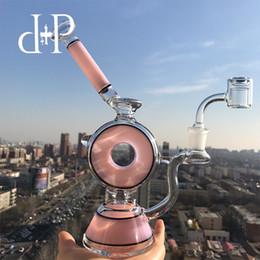"""nouvelle pipe en verre extraterrestre Promotion Plus Glass Bong Dab Rig Pipe à eau 010B Peachblow Pipe art surpuissant """"Anneau de Fumée Donut"""" Percolateur Pomme de Douche 8.5 Hauteur"""