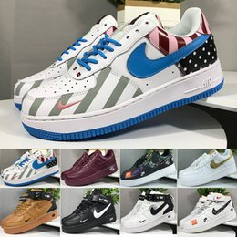 Nike air force 1 one off white 2019 Nuevas Fuerzas Hombres Mujeres Low Cut One 1 Zapatos Todo Blanco Negro Dunk Forzado 1s Calzado deportivo Classic AF Fly Trainers desde fabricantes