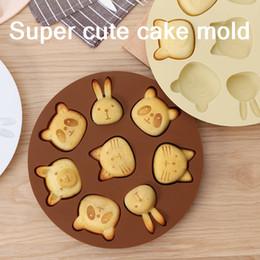 2019 stampo di pupazzo di silicone Stampo per dolci di riso Stampo per biscotti Cottura a vapore per cartoni animati fatti in casa simpatici animali per bambini Stampo in silicone per alimenti Stampi per dolci