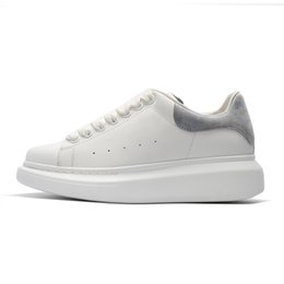72cd41529754e 2019 designer shoes fashion leather for men women top quality white black Platform  shoes height increasing36-44