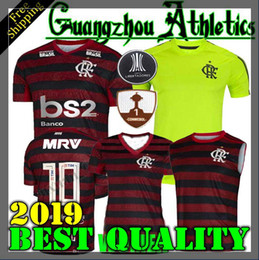 fba7d7109 19 20 flamengo jersey 2019 Flamengo DIEGO Camisas De Futebol Flamengo casa  preto vermelho esportes Brasil futebol camisa LONGA azul