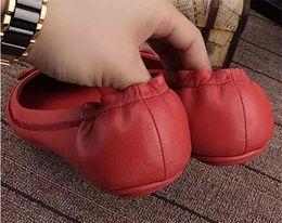 diseñador de ballet Rebajas Diseñador de la marca de moda Diseñador de cuero genuino Zapatillas de ballet de viaje casual Zapatos de mujer de cuero genuino Zapatos planos 7fdg