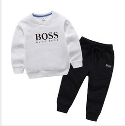 survêtement enfant Promotion 2020 Printemps Automne Enfants Bébé Tout Garçons Filles Vêtements Sweats à capuche Pantalons 2Pcs / Set Enfants Infant Outfit Vêtements décontractés Survêtements