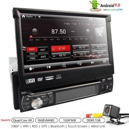 hyundai tucson dvd spieler Rabatt UK / DE LAGER! Android 9.0 Universal Single Din DVD Player 1 GB RAM + 16 GB FLASH Auto DVD GPS Radio Auto Audio HD Touchscreen DAB + MIC