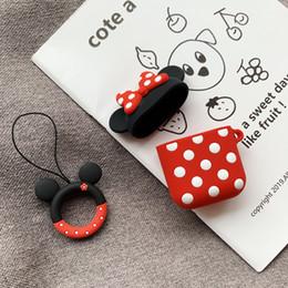 Fone de ouvido kawaii on-line-Kawaii Caso Fone De Ouvido para Airpods Caso Silicone Bonito Dos Desenhos Animados Capas de Fone de Ouvido para Casos de Casos de Ar para Apple Earpods Earbuds Acessórios