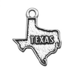 Сделать брелки онлайн-Древний Серебряный Техас карта штата США кулон подвески ювелирные изделия аксессуары для DIY ручной брелки,браслеты решений
