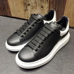 2019 Hombres Zapatillas de deporte para mujer Estabilidad extremadamente duradera Zapatos ocasionales negros con cordones Diseñador Comfort Zapatillas de mujer bonitas Zapatos de cuero casuales desde fabricantes
