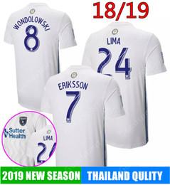 4d9fcebf4 2019 MLS San Jose Earthquake Soccer jerseys 18 19 Home white Football  uniform  8 Wondowlowski  7 Eriksson  24 Lima 20 Godoy Shirts calcio
