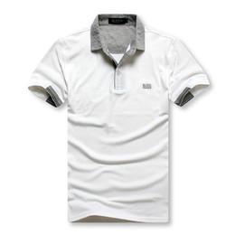 2019 camisas polo bordadas Novos homens eu camisa pólo de mangas curtas 6519 Bos T-shirt bordados Polo camisa de lazer dos homens polo algodão dos homens de manga curta forro desconto camisas polo bordadas