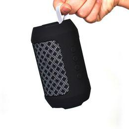 Шнур для подключения bluetooth онлайн-BS116 Bluetooth-динамики Портативный беспроводной сабвуфер 1200 мАч Батарея MP3-плеер FM-радио TF карта USB Play AUX Аудио Открытый ремешок