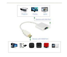 2019 hdmi bluetooth inalámbrico HDMI a VGA, Adaptador VGA convertidor de alta velocidad de TV de alta definición HDMI