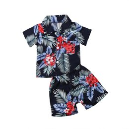 toddler beach set Coupons - Toddler Infant Kid Baby Boys Clothing Set Summer Beach Clothes T-shirt Tops+Pants Outfits Set Print Children Boy Clothes Fashion
