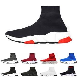 Balenciaga designer uomo donna Speed Trainer Luxury Brand Shoes nero bianco  rosso Flat Fashion Socks Stivali Sneakers moda Trainers Runner e8a6811de7c