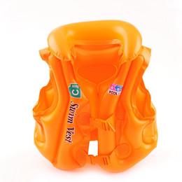 Viejo chaleco de bebé online-Verano Niños Chaleco inflable PVC Niños Ropa de natación Bebé Niño Seguridad Accesorios de herramientas de natación Se adapta a 3-15 años