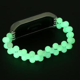 perles intelligentes Promotion Bracelet de perles lumineuses Smart Band + Montre Bracelet Etui Pour Xiaomi Mi Band 3 Bracelet Étendre Sangle Noir Vert