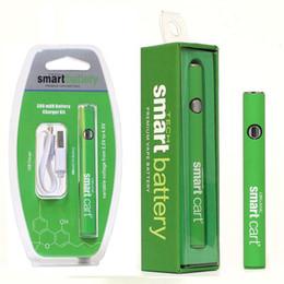 starter-kit-patronen Rabatt Organische Smart Cart Batterie Starter Kit 380mAh Blister Kit Vorwärmen 510 Thread Vape Pen variable Spannung für Smart Cart Cartridge