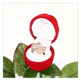 2019 organizador de joyas princesa Caja de anillo de flor rosa roja Caja de regalo de joyería Fiesta de boda Encanto del día de San Valentín Suministros de decoración romántica Originalidad