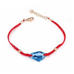 d009af006760 cristal Pulsera de cuerda roja Brazalete de cristal de Swarovski Joyas  simples clásicas Accesorios para mujeres y hombres Joyería afortunada