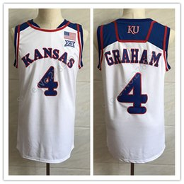 e4079875490 #4 Devonte Graham Kansas Jayhawks KU College White Retro Basketball Jersey  Mens Stitched Custom Number and name Jerseys
