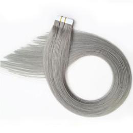 milier 2018 toptan sarışın siyah gri renk manikür hizalanmış Brezilyalı bant remy insan saç uzatma nereden ucuz renk bandı saç uzatmaları tedarikçiler
