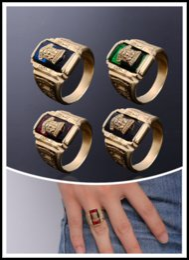 Walton Tigers Başkanı Yüzük Erkekler Vintage 4 Renk Paslanmaz Çelik ile Siyah Kırmızı Taş için 1973 Ordu Genel Asker Anıt Hatıra Takı cheap army rings nereden ordu yüzükleri tedarikçiler
