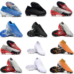 Grandes chaussures de football en Ligne-NJR Under The Radar Big Enfants Jeunes Hommes Junior Mercurial Superfly Elite Bottes de football SE FG Low High Crampons Chaussures de football 360 imperméable à l'eau