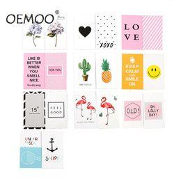 Fotos de la moda coreana online-10PC Fashion New Double Side Korean Chic Postales Tarjetas de felicitación para fotografía Herramientas de disparo de fotos Tarjetas de fondo Imagen