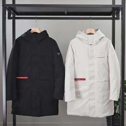 ropa de temporada de invierno bebé Rebajas 19AW Nueva PRA chaqueta de lujo de los hombres de las mujeres capa ocasional par de invierno de la manga larga de la manera floja con capucha por tamaño de la chaqueta L-4XL