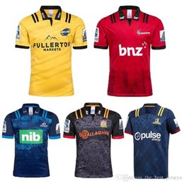 c86087144b7 Hot sales top 2018 2019 NRL Chiefs Rugby Super Rugby Highlanders Hurricanes  Crusaders Blues Home Rugby Jersey Short Sleeve Men Size S-3XL