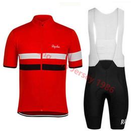 Pantalones de bicicleta hombres online-Tour de France 2019 RAPHA Conjunto de camisetas de ciclismo Conjunto de pantalones cortos para ciclista Ropa Ciclismo Hombres verano secado rápido pro BICYCLING Maillot pantalones ropa
