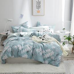2019 Land Duvet Abdeckungen Landhausstil Floral Print Bettwscheset Twin Queen Size Baumwolle Bettbezug Bettwsche Kissenbezug Schlafsaal