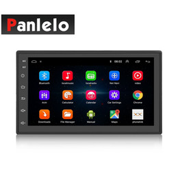 Reproductor de música mp3 con pantalla táctil online-S6 2 Din Car DVD Estéreo Android 8.1 Quad Core 7 pulgadas Navegación GPS Auto Radio Mirror Link Bluetooth Video Musical 1GB RAM 16GBROM