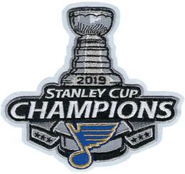 2019 Stanley Cup Campeões St. Louis Blues remendo bordado ponto remendo costurado em frete grátis sem tamanho de
